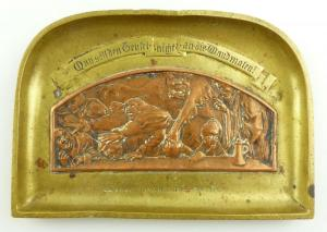 E11011 Alte Reliefplatte Wien mit Teufelsabbildung von Wiener Rathaus