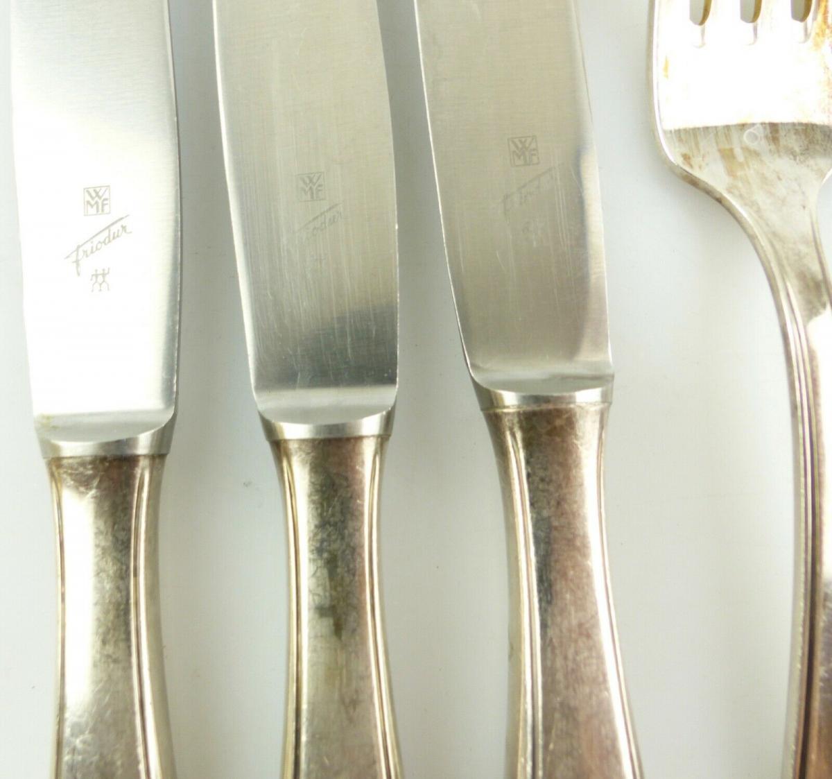 E10986 7 teiliges versilbertes Essbesteck von WMF 90er Silberauflage 1