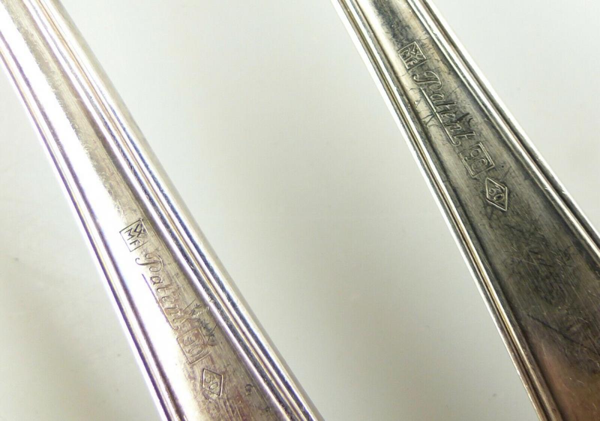 E10986 7 teiliges versilbertes Essbesteck von WMF 90er Silberauflage 8