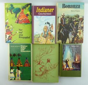 6 alte Kinderbücher: z.B. Indianer, Bonanza...e1134