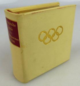Nummeriertes Minibuch Olympische Spiele Medaillengewinner mit Vollgoldschnitt