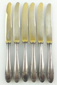 E11132 6 versilberte Obstmesser 90er Auflage