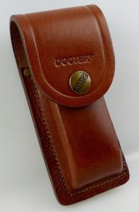 D0019 Docter Ledertasche Leather Case braun von Pielcu für Taschenmesser Lampen