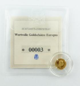 #e7257 Münze Wertvolle Goldschätze Europas Franz Joseph I. 585 Gold *00003*