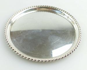 #e4911 toller kleiner 925er Silber Untersetzer Sterling Silber 925 FS