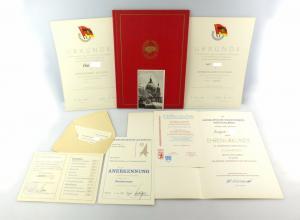 #e6681 Sammelsurium alter Urkunden etc. verschiedene Namen DDR 70er & 80er Jahre