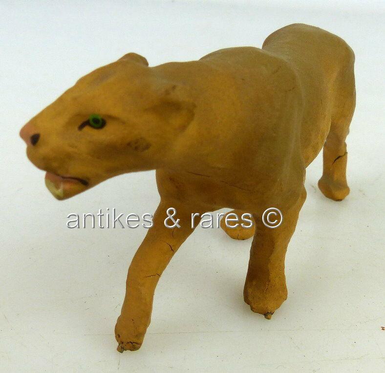 Altes Lineol Tier: Raubkatze anschleichend (linol112) 1