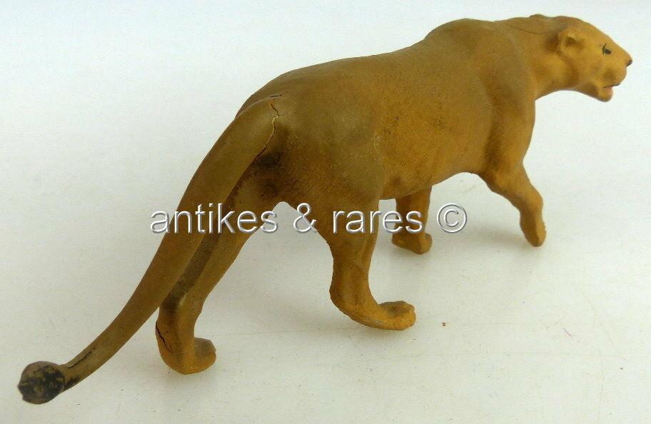 Altes Lineol Tier: Raubkatze anschleichend (linol112) 3
