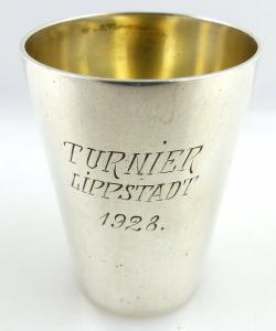Original alter Schnapsbecher /Wodkabecher aus 800 (Ag) Silber 1928 e1313