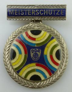 Medaille: Weltmeisterschaften im Sportschiessen Suhl 1986 Silber GST026
