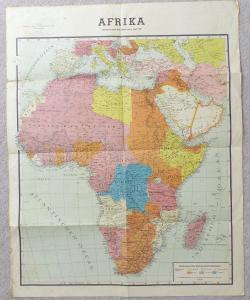 Antike Landkarte: Afrika gezeichnet nach dem Stand vom 1. April 1941 e869