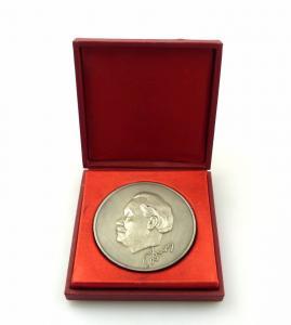 #e7829 Original alte Medaille mit Etui von 1881-1981 Russland?