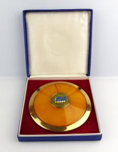 #e2989 Nachlass: Original DDR Ehrengeschenk Diskus Olympiade 1972 DVfL
