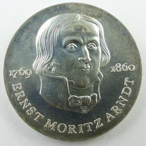 E11274 20 Mark DDR Silber Ernst Moritz Arndt 1985 A