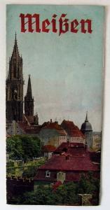 Original alte Werbebroschüre von Meißen Buch0435
