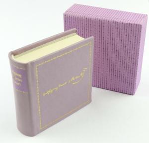 E11290 Minibuch Wofgang Amadeus Mozart Lebensbeschreibungen Irene Hempel