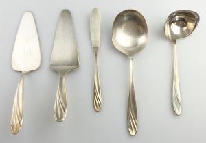 E11309 5 versilberte WMF Vorleger 90er Silberauflage verschiedene Modelle