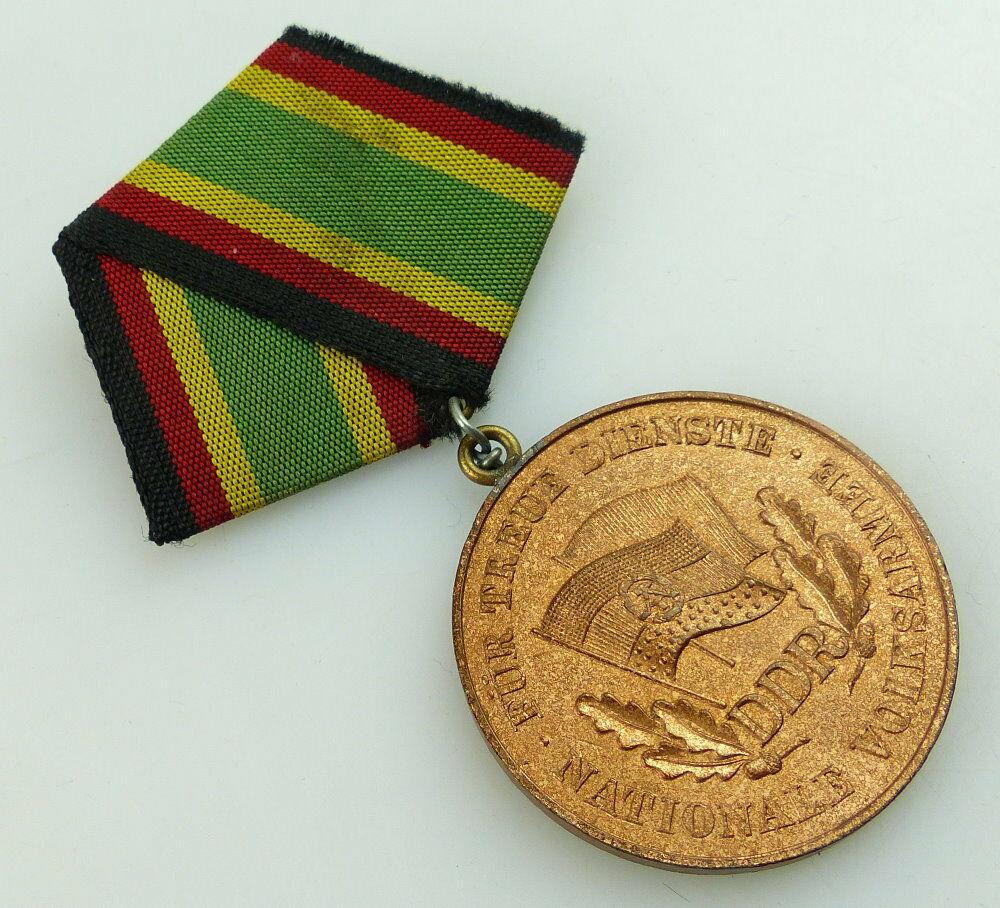Medaille Für Treue Dienste NVA in Bronze + Urkunde 1957 verliehen, Orden3158 4
