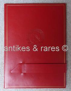 Original rote Urkundenmappe Selten Orden839