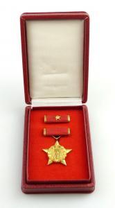 E11315 DDR Orden Held der Arbeit Nummer 53 i 1957 bis 1989 Nadelsystem defekt