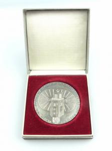 #e5679 Medaille Kinder- und Jugend- Spartakiade der DDR Leipzig 1977 Sportfest