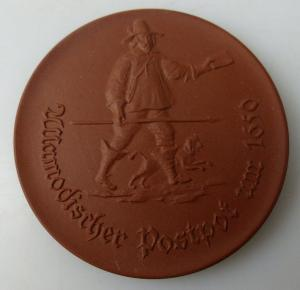 Meissen Medaille: Ullamodischer Postpot um 1650, Postmuseum der DDR, Orden1502