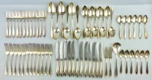 E11351 versilbertes WMF Besteck 65 Teile 90er Silberauflage verschiedene Größen