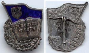 DDR FDJ Abzeichen Für gutes Wissen in Silber Nr. 185668