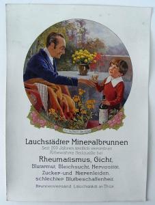 Werbeplakat Lauchstädter Mineralbrunnen