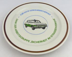 Andenkenteller: Für hohe Verkehrssicherheit, Dank der Arbeitsgruppe Sicherheit i