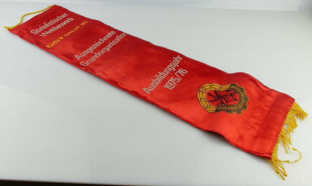 Fahnenschleife: GST Soz. Wettbewerb Ausbildungsjahr 1975/76 Ausgezeic, Orden2815 3
