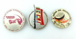 #e2626 3x Abzeichen 25 J. Waffenbrüderschaft, III. Treffen der Freundschaft 1986