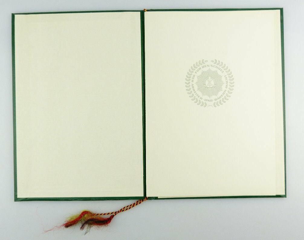 #e2978 Nachlass: DDR Urkunde für Verdienstmedaille der Organe des MdI von 1978 1
