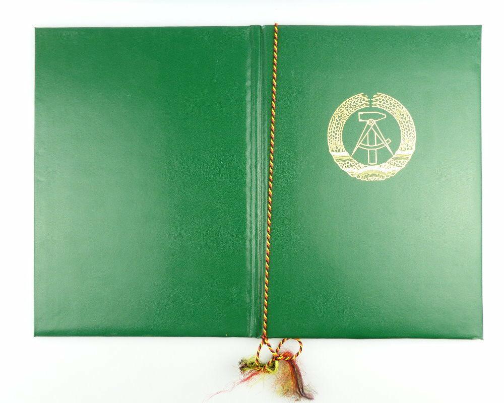 #e2978 Nachlass: DDR Urkunde für Verdienstmedaille der Organe des MdI von 1978 2