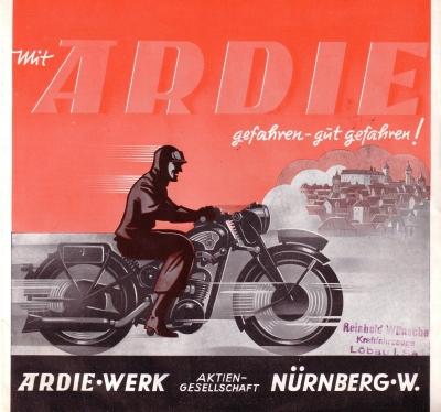 Ardie RZ 200 RBZ 250 Prospekt 1939