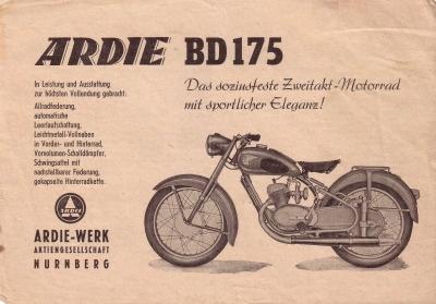 Ardie BD 175 Prospekt 1952