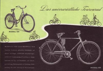 d rkopp fahrrad prospekt 1960er jahre nr d r603. Black Bedroom Furniture Sets. Home Design Ideas