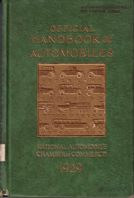 Handbook of Automobiles 1929 USA