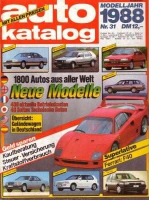Auto Katalog 1988 Nr.31