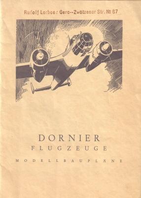 Dornier Modellbaumappe 40er Jahre