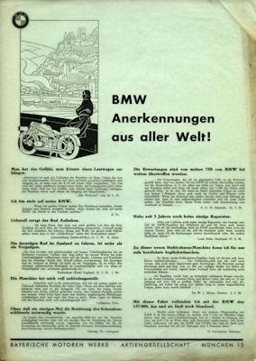 BMW Anerkennungsschreiben aus aller Welt 1930