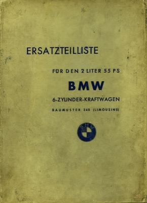 EMW / BMW Eisenach 340 Ersatzteilliste ca. 1950
