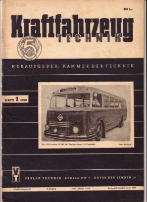 Kraftfahrzeugtechnik KFT 1950er / 60er Jahre