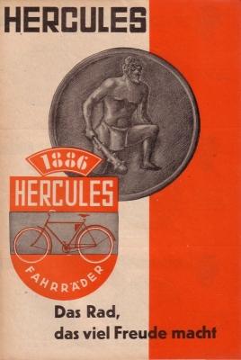 Hercules Fahrrad Programm ca. 1936