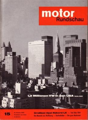 Motor Rundschau 1963 Heft 15