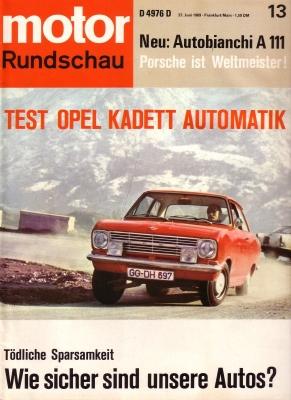 Motor Rundschau 1969 Heft 13