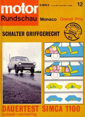 Motor Rundschau 1969 Heft 12