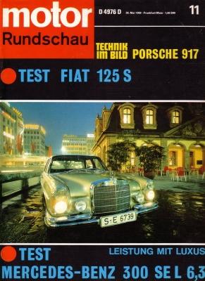 Motor Rundschau 1969 Heft 11