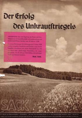 Rud. Sack Universalstriegel Prospekt 1939