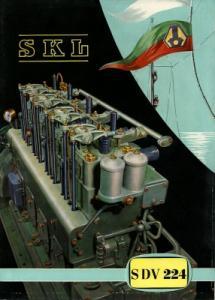 SKL Schiffs-Dieselmotoren SDV 224 Prospekt 1958